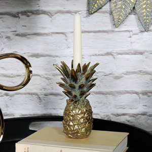 Gold Pineapple Candle Stick Holder