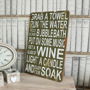 'Grab a Towel...' Wall Plaque