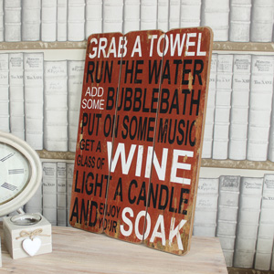 'Grab a Towel...' Wine Wall Plaque