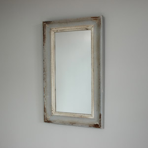 Grey Distressed Wall Mirror 40cm x 67cm