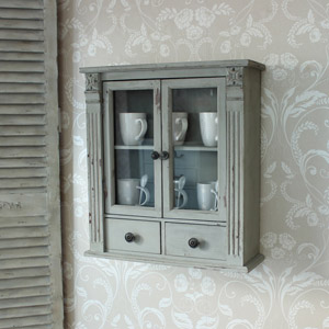 Grey Glass Wall Cabinet