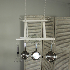 Grey Hanging Pan Rack