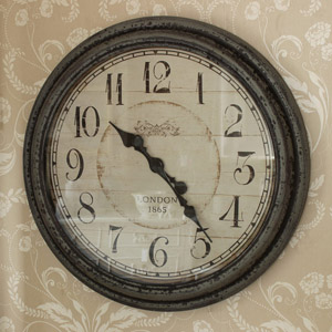 Grey Large Wall Clock