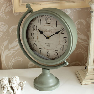 Grey Mantel Clock on stand