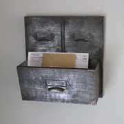 Grey Metal Filing Cabinet Wall Storage Unit/Planter