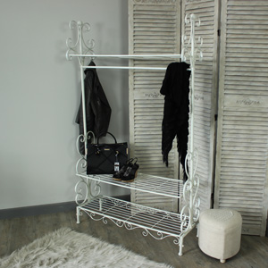 Grey Ornate Clothes Rail