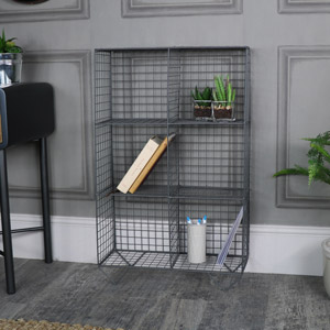 Grey Wire Metal Freestanding Shelving Unit