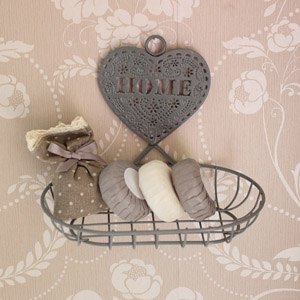 Grey vintage style Wire Soap Dish