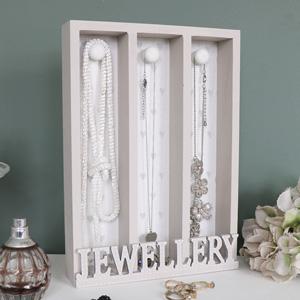 Grey Wooden Jewellery Holder