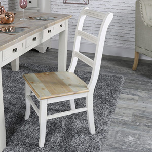 Grey Wooden Ladder Back Dining Dining Chair - Cotswold Range