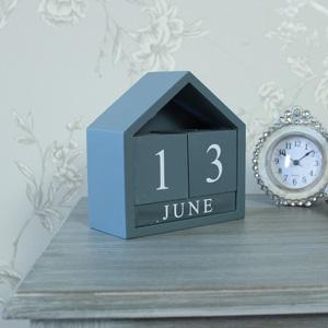 Grey Wooden Perpetual Calendar