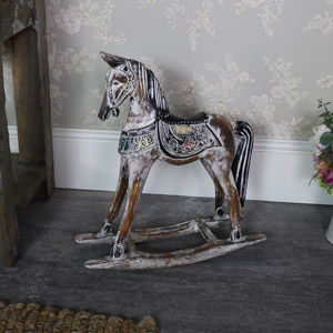 Heavily Distressed Decorative Rocking Horse