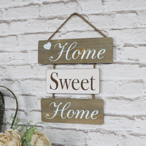 'Home Sweet Home' Hanging Wall Plaque