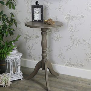 Small Round Wooden Pedestal Table - Hornsea Range