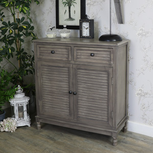 Wooden Storage Cupboard with 2 Drawers - Hornsea Range