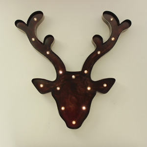 Huge wall mounted Light up Reindeer Head