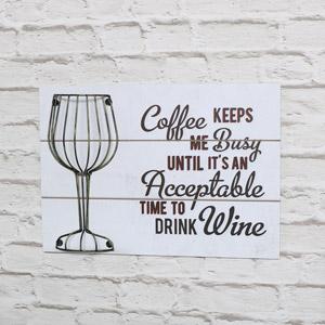 Humorous Wine Quote White Wall Plaque Cork Holder