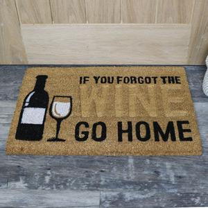 'If You Forgot the Wine....' Humorous Door Mat