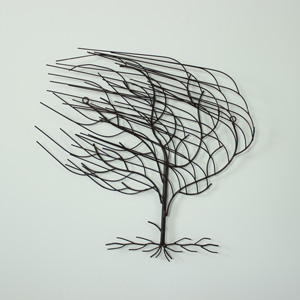 Iron Blowing Tree Wall Art