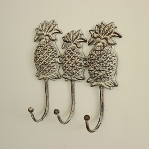 Iron Pineapple Wall Hooks