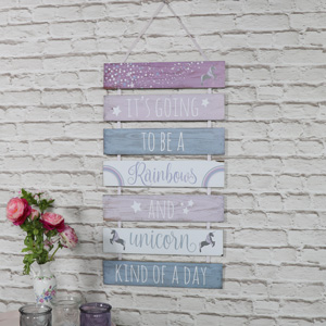 'It's Going To Be A Unicorn Day' Hanging Wall Plaque