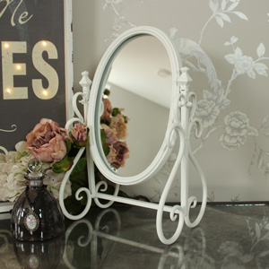 Ivory Metal Swing Mirror