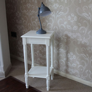 Louella Range - Ivory Square Lamp Table