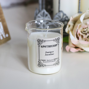 Juniper & Jasmine Scented Apothecary Candle in Glass Beaker