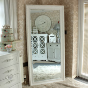 Large Antique White Mirror