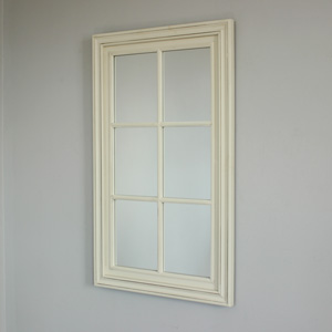 Large Cream Window Mirror 100cm x 60cm