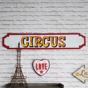 Large Distressed Rustic Circus Sign
