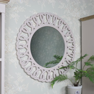 Large Entwined Hearts Wall Mirror 90cm x 90cm