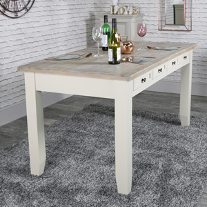 Large Taupe 8 Drawer Dining Table - Cotswold Range