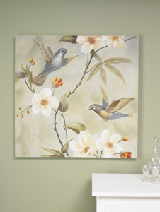 Large Humming Bird Canvas Painting