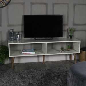 Large Ivory Low Console/TV Table - Stockholm Range