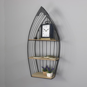 Large Metal Wall Mounted Boat Shelving Unit