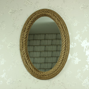 Large Oval Rope Wall Mounted Mirror 72cm x 102cm