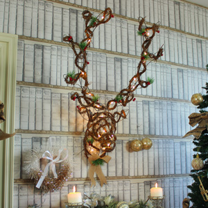 Large Rattan LED Reindeer Head