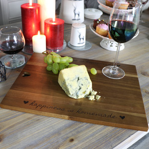 Heart Wooden Chopping/cheese Board