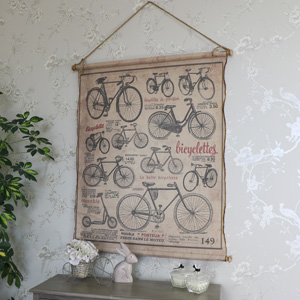 Large Scrolled Vintage Bicycle Wall Art Decoration