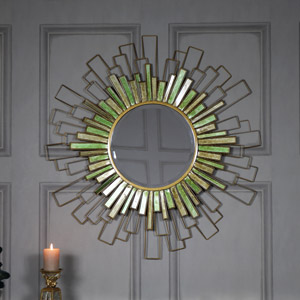 Large Sunburst Bevelled Wall Mirror 90cm x 90cm