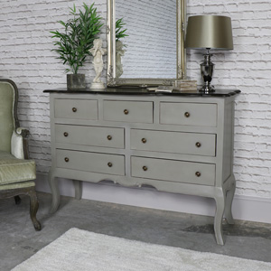 Large Vintage Grey Chest of Drawers / sideboard - Leadbury Range