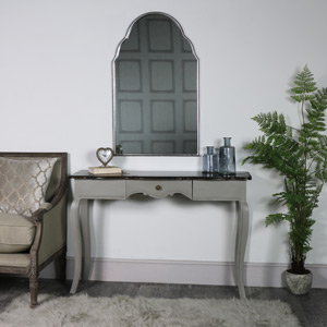 Large Vintage Grey Console/Dressing Table - Leadbury Range