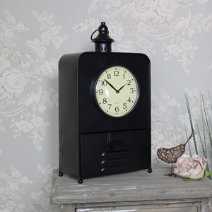 Large Vintage Industrial Mantel Clock