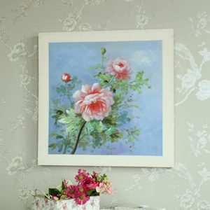 Large Vintage Pink Rose Canvas Print