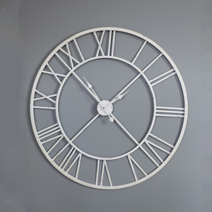 Extra Large White Skeleton Wall Clock