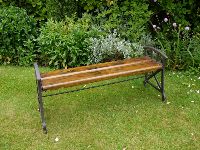 Large Wooden Industrial Style Backless Bench