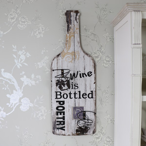 Large Wooden Wine Bottle Holder Wall Plaque