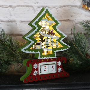 Light Up Advent Christmas Tree