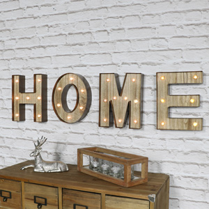Light Up HOME Letters